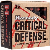 Hornady Critical Defense .357 Mag 125 Gr. Flex Tip Hollow Point, 25 Rounds
