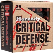 Hornady Critical Defense .38 Special 110 Gr. Flex Tip Hollow Point +P, 25 Rounds