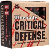 Hornady Critical Defense .38 Special 110 Gr. Flex Tip Hollow Point, 25 Rounds