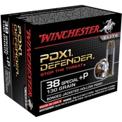 Winchester Supreme Elite .38 Special +P 130 Gr. PDX1, 20 Rounds