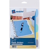 Avery Mini Durable Write On Plastic Dividers, 5.5 x 8.5 in., 5-Tab Set