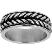 Black Oxidized Stainless Steel Woven Band