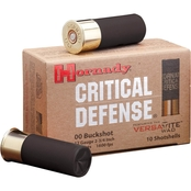 Hornady Critical Defense 12 Ga. 2.75 in. 00 Buckshot, 8 Pellets, 10 Rounds