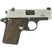 Sig Sauer P238 380 ACP 2.7 in. Barrel 6 Rnd Pistol Two Tone