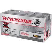 Winchester Super-X .22 LR 40 Gr. Lead Round Nose, 50 Rounds