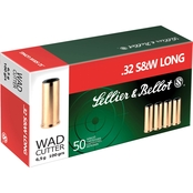 Sellier & Bellot Ammunition .32 S&W Long 100 Gr. Wadcutter, 50 Rounds