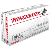 Winchester USA .357 Sig 125 Gr. Jacketed Hollow Point, 50 Rounds