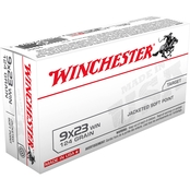 Winchester USA, 9x23 Win 124 Gr. Jacket Flat Point, 50 Rounds