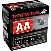 Winchester AA Supersport Clay 12 Ga. 2.75 in. #7.5 1.125 oz. Shotshell, 25 Rounds
