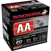Winchester AA Target 20 Ga. 2.75 in. #7.5 2.5 Dram 1 oz. Shotshell, 25 Rounds