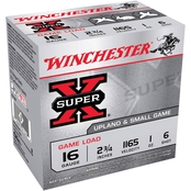 Winchester Super-X 16 Ga. 2.75 in. #6 2.5 Dram 1 oz. Shotshell, 25 Rounds