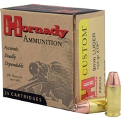 Hornady Custom 9mm 124 Gr. XTP, 25 Rounds