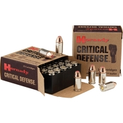Hornady Critical Defense .40 S&W 165 Gr. Flex Tip Hollow Point, 20 Rounds