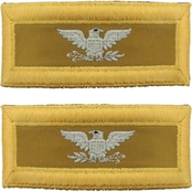 Army COL Quartermaster Female Shoulder Straps