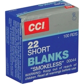 CCI Blank .22 Short Blank, 100 Rounds