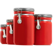 Anchor Hocking 4 pc. Clamp Top Canister Set