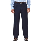 Haggar E-CLO Stria Flat Front Dress Pants