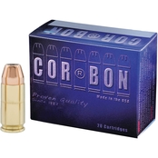 CORBON 9mm 115 Gr. Jacketed Hollow Point +P, 20 Rounds