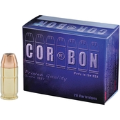 CORBON .38 Special 125 Gr. Jacketed Hollow Point +P, 20 Rounds