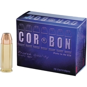 CORBON 38 Super 125 Gr. Jacketed Hollow Point +P, 20 Rounds