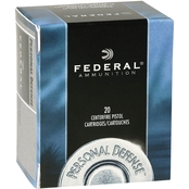Federal Personal Defense .32 H&R 85 Gr. Jacketed Hollow Point, 20 Rounds
