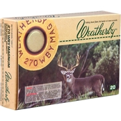 Weatherby Select 270 Weatherby 130 Gr. Spire Point, 20 Rounds