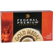 Federal Gold Medal .338 Lapua 250 Gr. Boat Tail Hollow Point, 20 Rounds