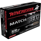 Winchester Supreme Elite .308 Win 168 Gr. Sierra Matchking, 20 Rounds