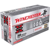 Winchester USA .38 Special 125 Gr. Jacketed Flat Point Win Clean, 50 Rounds