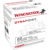 Winchester Ammunition .22 LR 40 Gr. Lead Dynapoint, 500 Rounds
