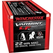 Winchester Super-X .22 WMR 28 Gr. Jacketed Hollow Point Lead Free, 50 Rounds