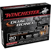 Winchester Supreme Elite 20 Ga. 2.75 in. Dual Bond Sabot Slug, 5 Rounds