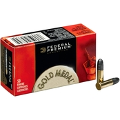 Federal Gold Medal .22 LR 40 Gr. Solid, 50 Rounds