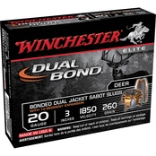 Winchester Supreme Elite 20 Ga. 3 in. Dual Bond Sabot Slug, 5 Rounds