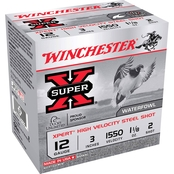 Winchester Xpert HI-Velocity 12 Ga. 3 in. #2 1 1/8 oz. Steel Shot Lead Free, 25 Rd