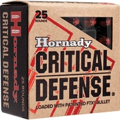 Hornady Critical Defense 9mm 115 Gr. Flex Tip Hollow Point, 25 Rounds