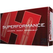 Hornady Superformance Varmint .204 Ruger 24 Gr. NTX Lead Free, 20 Rounds