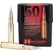 Hornady Match .50 BMG 750 Gr. AMAX, Not for Semi-Auto, 20 Rounds