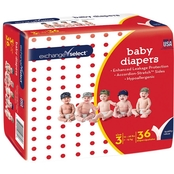 Exchange Select Jumbo Premium Baby Diapers Size 3 (16-28 lb.), 36 Ct.