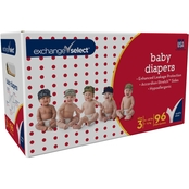 Exchange Select Premium Baby Diapers, Size 3 (16-28 lb.), 96 Ct.