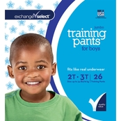 Exchange Select Boys Jumbo Premium Training Pants 2T-3T, 26 Count