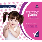 Exchange Select Girls Jumbo Premium Training Pants 2T-3T, 26 Count