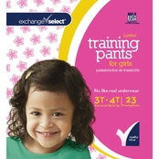 Exchange Select Girls Jumbo Premium Training Pants 3T-4T, 23 Count