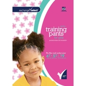 Exchange Select Girls Jumbo Premium Training Pants 4T-5T, 19 Count