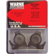 Warne Scope Mounts Maxima Quick Detach 1 in. Low Rings 2 pk.