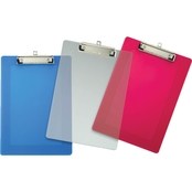 Officemate Clipboard, Plastic, Letter Size, Translucent Colors, Low Profile Clip