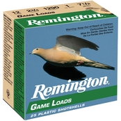 Remington Game Load 1 Oz. Shotshell 12 Ga. 2.75 in. 8 Shot, 25 Rounds