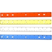 Officemate Achieva Shatterproof Plastic 12 in. Ruler, Assorted Transparent Colors