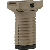 Tapco Intrafuse Short Vertical Grip for Picatinny Rails, Desert Tan Finish