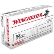 Winchester USA .32 ACP 71 Gr. FMJ, 50 Rounds
